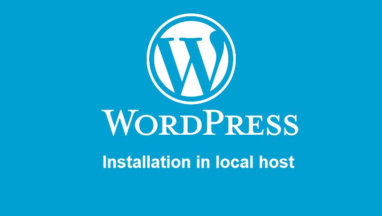 Wordpress installation in localhost