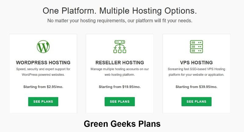 Green Geeks plans