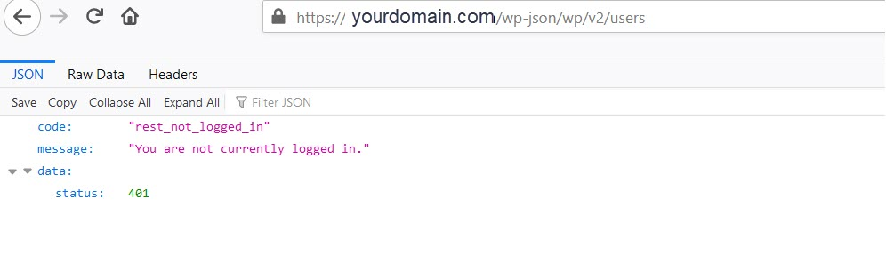 Rest API disable in wordpress